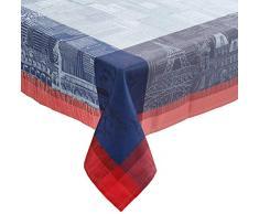 Garnier-Thiebaut PARISIENNE Nappe Antitache, Coton, Ardoise, 175 x 175 cm