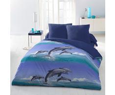 Home Passion 54369 Parures de couette Dolphin 3 Pièces Microfibre Multicolore 220 x 240 cm