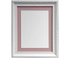 Frames by Post Cadre Photo Style Shabby Chic, Plastique, Blanc, 45 x 30 cm Image Size 14 x 8 inches