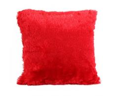 Enjoy Home Coussin 40x40, PLUCH Rouge, Polyester, 40x40x1 cm