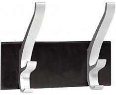 Unilux 100340803 Patère Portemanteaux Aluminium/Ferronickel Noir