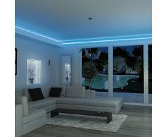 Xanlite LSAR1B Ruban Strip LED 1 m + Connecteur Blanc/Bleu