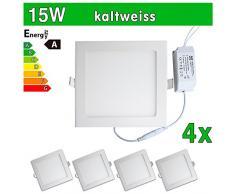 4x LEDVero ULTRASLIM Panneau LED SMD 283515W carré blanc froid Lampe Plafonnier encastrable Spot Lumière SP200