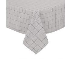 Deconovo VCDEZB20057-7 Enfant en Tissu Moderne de Table Impermeable Rectangulaire, Polyester, Noir/Blanc, 140x240cm