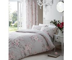 Catherine Lansfield Canterbury Parure de lit pour lit simple–Gris