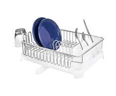 iDesign 51416EU Égouttoir avec Bec Pivotant pour Cuisine, Aluminium, Argent/Frost, 45,6 x 35,7 x 14,8 cm