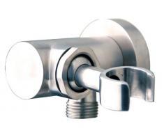 Inox acier inoxydable de douche mural peignoir de douchette à main Rotule réglable avec Tuyau de douche muraux coude