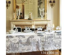 Garnier-Thiebaut PALAZZINA Nappe Antitache, Coton, Fusain, 174 x 304 cm