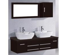 Concept Usine 2034.0 Hera Ensemble de Meubles/2 Vasques/1 Miroir salle de bain Wengé
