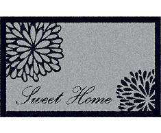 ID Mat 5080 Graphique Home Sweet Home Tapis Paillasson Fibre Nylon/Caoutchouc Gris 76 x 50 x 0,8 cm