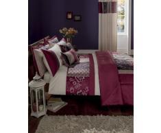 Catherine Lansfield Parure de lit Motif Patchwork Prune, Violet, Simple
