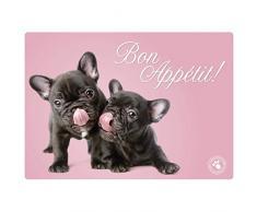 Plenty Gifts 511840 Napperon Studio Pets French Bulldog, Plastic, Universel, Taille Unique