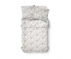 TODAY Parure de lit à 2 Personnes, Polyester, Blanc/Beige, 220x240 cm