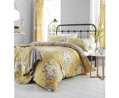Catherine Lansfield Canterbury Parure de lit Simple Entretien Facile Ocre, Polyester-Coton., Ocre, King