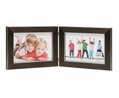 Deknudt Frames S41VK3 H2H Cadre Photo Diptyque Horizontal Résine Brun 10 x 15 cm