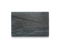 Zeller 26256 Planche à découper, Verre de Sécurité, Gris, 30 x 20 x 0,8 cm
