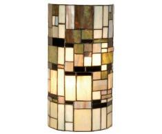 Lumilamp 5LL-9994 Applique murale style TiffanyStyle cylindrique en verre coloré 2 ampoules E14 max. 40 W 20 x 11 x 36 cm