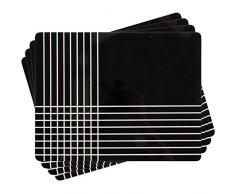 Ladelle Linge de Table Cullen 26x33,5x0,5cm 4 pcs, Tissu, Multicolore, 5 cm