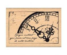 Florilèges Design FE113003 Tampon Scrapbooking Vieille Horloge Beige 5 x 7 x 2,5 cm