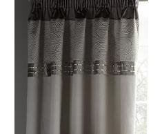 Catherine Lansfield Gatsby Rideaux, Tissu, Silver, Curtains