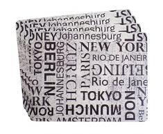 Ladelle Linge de Table Grandes Villes 26x33,5x0,5cm 4 pcs, Tissu, Multicolore, 5 cm