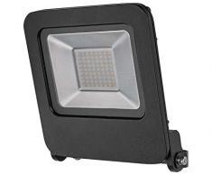 Radium Plafonnier LED Downlight Slim 18 W, 1500 lumens, plat et rond, 208 mm, 3000 K blanc chaud, IP20, moulé par injection en aluminium Noir