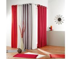 Nuances Du Monde Rideau à œillets Polyester Rouge 140 x 260 cm