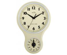 Acctim - 21592 - Horloge Murale Kitchen Time - Couleur Crème (Import Grande Bretagne)