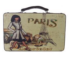 Kleiber 91995 Coffret de Rangement Coffret de Rangement Paris Petit, boîte, Bois, Marron, 30 x 11, 5 x 18 cm