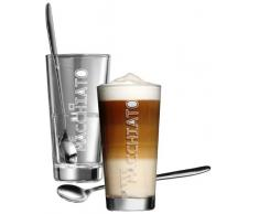 Ritzenhoff & Breker 115512 Latte Macchiato Lena Lot de 2 verres et 2 cuillères