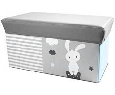 TOM ET ZOE RG5803 Coffre de rangement pour Enfant Polyester Gris 61,50 x 30,50 x 32,20 cm
