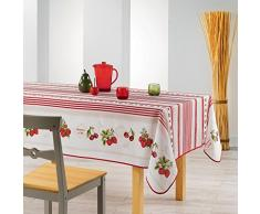 Le Jardin des Cigales FRUITS ROUGES Nappe rectangulaire Polyester 200 x 150 cm