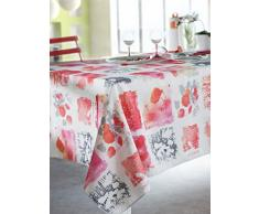 Calitex Nappe Rectangulaire, Polyester, Rouge, 150 x 200 cm