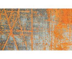 Wash+Dry Rustic Tapis, Surface en Polyamide, Orange, 80 x 150 cm