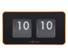 NeXtime 5186or Flipped Horloge Plastique Orange 9,0 x 17,5 x 7,0 cm