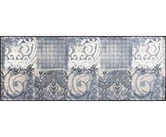 Wash+Dry 069362 Arabesque Paillasson, Résine Acrylique, Gris, 75x190 cm