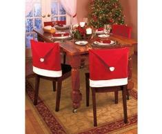 eBuyGB Lot de 6 Housses de Chaise de Salle à Manger Motif Noël Rouge
