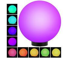 Green Blue gb167außenso larl AMPE Boule solaire lampe solaire LED Boule lumineuse Éclairage de jardin Plusieurs couleurs lumineux (Color, lot de 1-30cm)