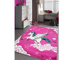 Un Amour de Tapis 30070 Kids Licorne Tapis pour Chambre de Fille Polypropylène Rose 160 x 230 cm