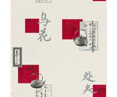 Rasch 830811 Carrelage Motif oriental Rouge