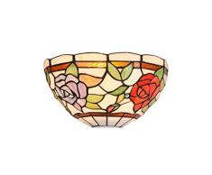 interfan Applique tiffany roses E14, multicolore