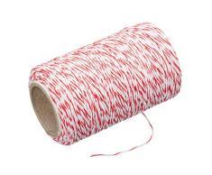 Kitchen Craft KCTWINE Ficelle de Boucher, Polyester, Rouge/Blanc, 32 x 32 x 22 cm