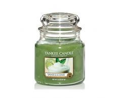 Yankee Candle Bougie en pot Vanille/citron vert, vert, Taille M