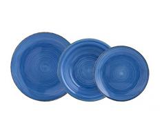 Quid Vita Service de Table DE 18pièces, céramique, Bleu, 32x 30x 30cm