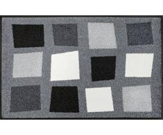 Wash+Dry Boxpark Grey Tapis, Surface en Polyamide, Gris, 50/75