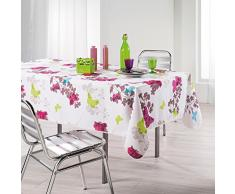Lharmonie du décor Azura Nappe Imprimé Polyester 150 x 240 x 240 cm