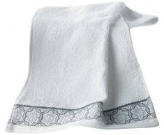 douceur dintérieur serviette invite 30x50 cm eponge adelie blanc