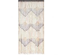 JVL Tuscany Rideau de Porte Perlé en Bois avec Flèches Suspendues, 90 x 180 cm
