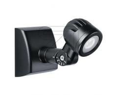 Esylux Projecteur LED 4 W, longueur 191 mm, 5000 K, IP44, os 40LED Spot, noir, 4062515