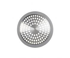 OXO Good Grips 1395500V1MLNYK Protecteur de drain de baignoire argent, Acier Inoxydable, 0,64 x 10,67 x 8,26 cm